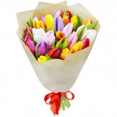 Букет Тюльпаны в крафте 25 шт
